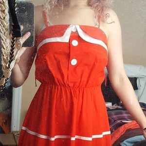 Dresses - Vintage Bright Red Dress in Amazing Condition!